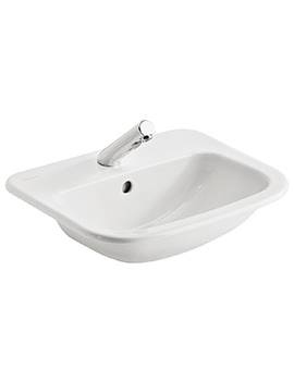 Armitage Shanks Planet 21 500mm 1TH Semi-Countertop Basin With Overflow