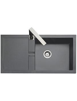 Rangemaster Cubix 985 x 508mm Neo-Rock Granite Grey 1.0B Inset Sink