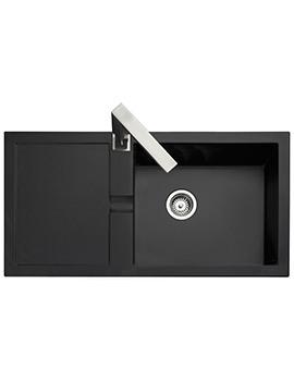 Rangemaster Cubix 985 x 508mm Neo-Rock Granite Black 1.0B Inset Sink