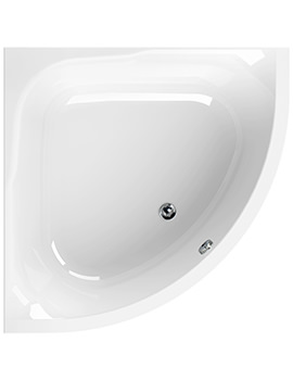 Aquaestil Satellite White 1200 x 1200mm Corner Bath