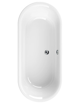 Aquaestil Metauro Classic 1800 x 800mm Freestanding Double Ended Bath White