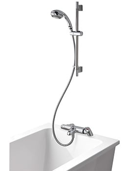 Aqualisa Midas 100 Bath Shower Mixer With 90mm Harmony Head And Kit