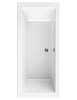 Aquaestil Plane White Double Ended Rectangular Bath