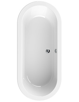 Aquaestil Rhein White 1800 x 800mm Double Ended Bath