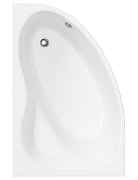 Lauren Pilot 1450 x 950mm Offset Corner Left Hand Acrylic Shower Bath