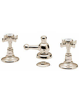 Tre Mercati Imperial 3 Hole Bidet Mixer Tap With Pop Up Waste Antique Gold