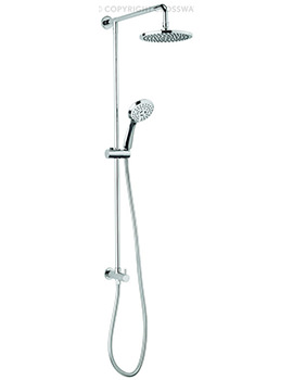 Crosswater Fusion Shower Diverter With Handset Kit And Fixed Head