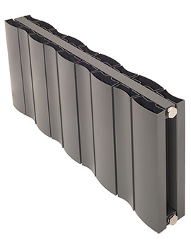 Apollo Malpensa Wave 600mm Height Horizontal Aluminium Radiator