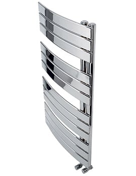 Apollo Palermo Offset Curved 600 x 1100mm Towel Warmer