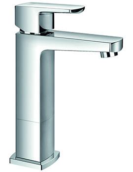 Flova Dekka Mid-Height Single Lever Basin Mixer Tap With Clicker Waste