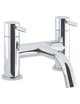Crosswater Design Deck Mounted Bath Filler Chrome Tap