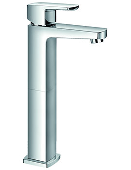 Flova Dekka Tall Single Lever Basin Mixer Tap With Clicker Waste
