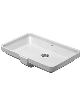 Duravit 2nd Floor 555 x 380mm No Tap Hole Undercounter Vanity Basin