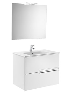 Roca Victoria-N 700 x 460 x 565mm Vanity Unit Pack With Mirror And Light