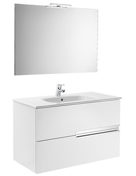 Roca Victoria-N 800 x 460 x 565mm Vanity Unit Pack With Mirror And Light