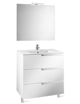 Roca Victoria-N 1000 x 460 x 740mm Vanity Unit Pack With Mirror And Light