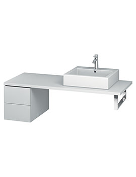 Duravit L-Cube 320mm Double Drawer Floor Standing Vanity Unit For Console
