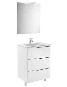 Roca Victoria-N 600 x 460 x 740mm Vanity Unit Pack With Mirror And Light