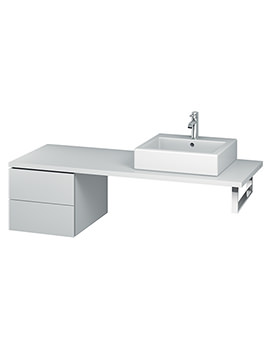 Duravit L-Cube 420mm Double Drawer Floor Standing Vanity Unit For Console