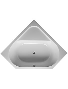 Duravit D-Code 1400 x 1400mm Built-In Corner Bathtub Without Feet