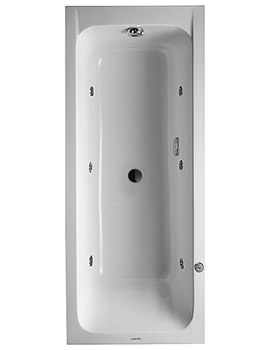Duravit D-Code 1700 x 700mm Built-In Whirltub With Central Outlet