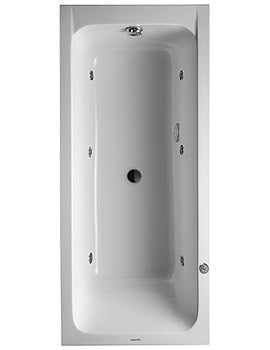 Duravit D-Code 1700 x 750mm Built-In Whirltub With Central Outlet