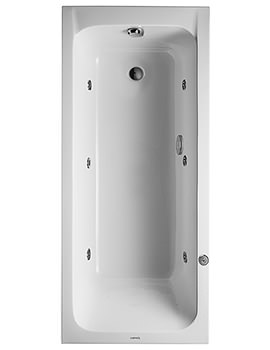 Duravit D-Code 1600 x 700mm Built-In Whirltub With Outlet In Foot Area