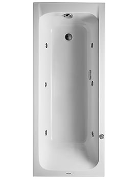 Duravit D-Code 1700 x 700mm Built-In Whirltub With Outlet In Foot Area