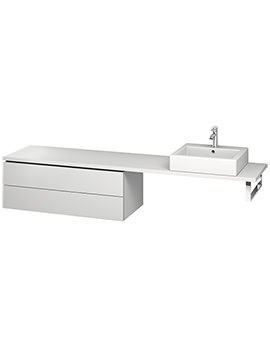 Duravit L-Cube 1020mm 2 Drawer Floor Standing Vanity Unit For Console