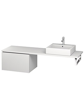 Duravit L-Cube 620mm 1 Drawer Floor Standing Vanity Unit For Console