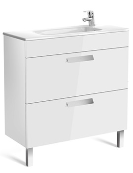Roca Debba Unik 2 Drawers Compact Base Unit And Basin 805 x 360mm