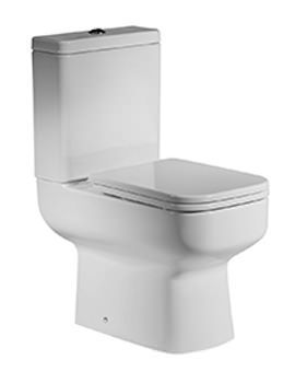 Roper Rhodes Geo Open Back Close Coupled WC With Cistern And Seat White