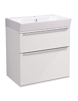 Roper Rhodes Scheme 500mm Gloss White Wall Mounted Unit And Basin