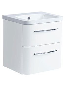 Roper Rhodes System 500mm Gloss White 2 Drawer Unit With Basin