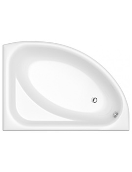 Trojan Florida White Left Handed Offset Bath 1500 x 1030mm - NTH