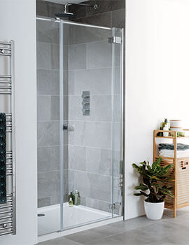 Lakes Island Cayman 1600 x 2000mm Hinge Shower Door And Inline Panel