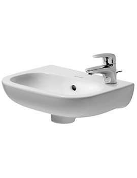 Duravit D-Code 360mm Handrise Basin Without Tap Hole - EX DISPLAY