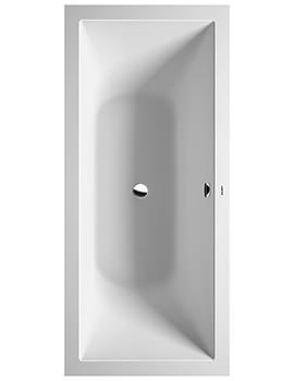 Duravit DuraSquare 1800 x 800mm Rectangular Built-In Bath With Support Frame