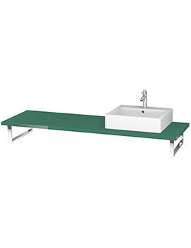 Duravit L-Cube 800 x 550mm Jade High Gloss 1 Cut Out Console