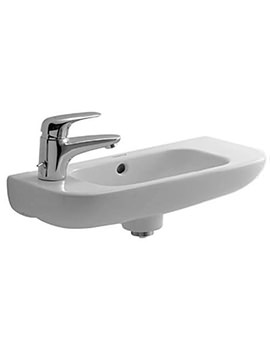 Duravit D-Code 500mm Handrise Left Hand Basin With Tap 1 Hole - EX DISPLAY