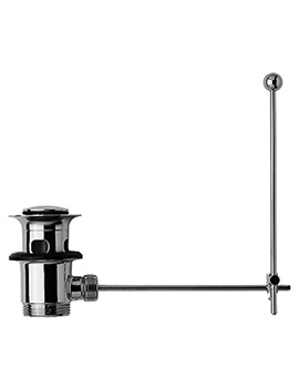 Duravit Pop Up Chrome Basin Waste With Vertical Lever - EX Display