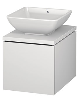 Duravit L-Cube 420mm Single Drawer Wall Hung Vanity Unit For Console