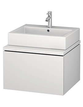 Duravit L-Cube 620mm Single Drawer Wall Hung Vanity Unit For Console