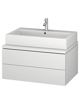 Duravit L-Cube 820mm Double Drawer Wall Hung Vanity Unit For Console