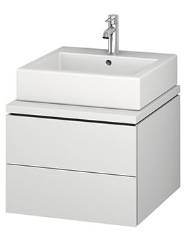 Duravit L-Cube 520mm Double Drawer Wall Hung Vanity Unit For Console
