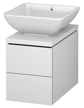 Duravit L-Cube 320mm Double Drawer Wall Hung Vanity Unit For Console