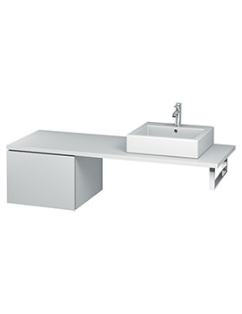 Duravit L-Cube 520mm Single Drawer Floor Standing Vanity Unit For Console