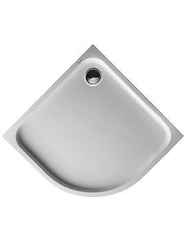 Duravit D-Code White 900 x 900mm Quarter Circle Shower Tray