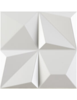 Dune Shape 1 Multishapes White 25 x 25cm Ceramic Wall Tile