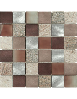 Dune Emphasis Magma Copper 29.8 x 29.8cm Mosaic Tile